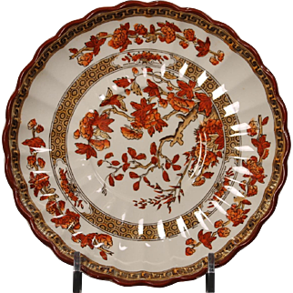 Beautiful English Spode ''India Tree'' Saucer by W. T. Copeland.  5-3/4'' and has some paint chipping on the rim but does not distract.