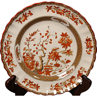 Beautiful English Spode ''India Tree'' Luncheon Plate by W. T. Copeland.  9''