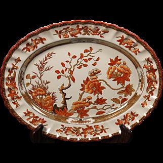 Beautiful English Spode ''India Tree''  Oval Platter by W. T. Copeland.  13''