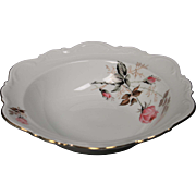 Beautiful Bavaria Germany Round Serving Bowl by Mitterteich, lovely Rose Motif but specific pattern is unknown.