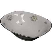 Beautiful Fanconia ''Silver Thistle'' Oval Serving Bowl.
