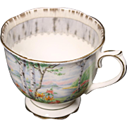Beautiful Royal Alpert Bone China ''Silver Birch'' Footed Cup.