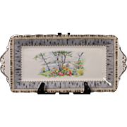 Beautiful Royal Alpert Bone China ''Silver Birch'' Tray for the Creamer and Sugar.