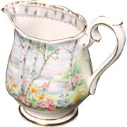 Beautiful Royal Alpert Bone China ''Silver Birch'' Creamer.