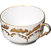 Beautiful Hand Painted Limoges White with Heavy Gold Decorated Cup from the Lakides Studios and signed by the artist Barbara Zeeman (BZ).