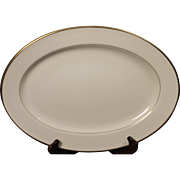 Beautiful Lenox ''Mansfield'' Oval Serving Platter.  16''