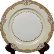 Beautiful ''Annette'' pattern Dinner Plate by Meito China.