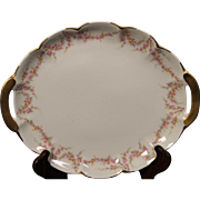 Beautiful ''Varenne'' pattern Oval Serving Platter with Handles by Theodore Haviland