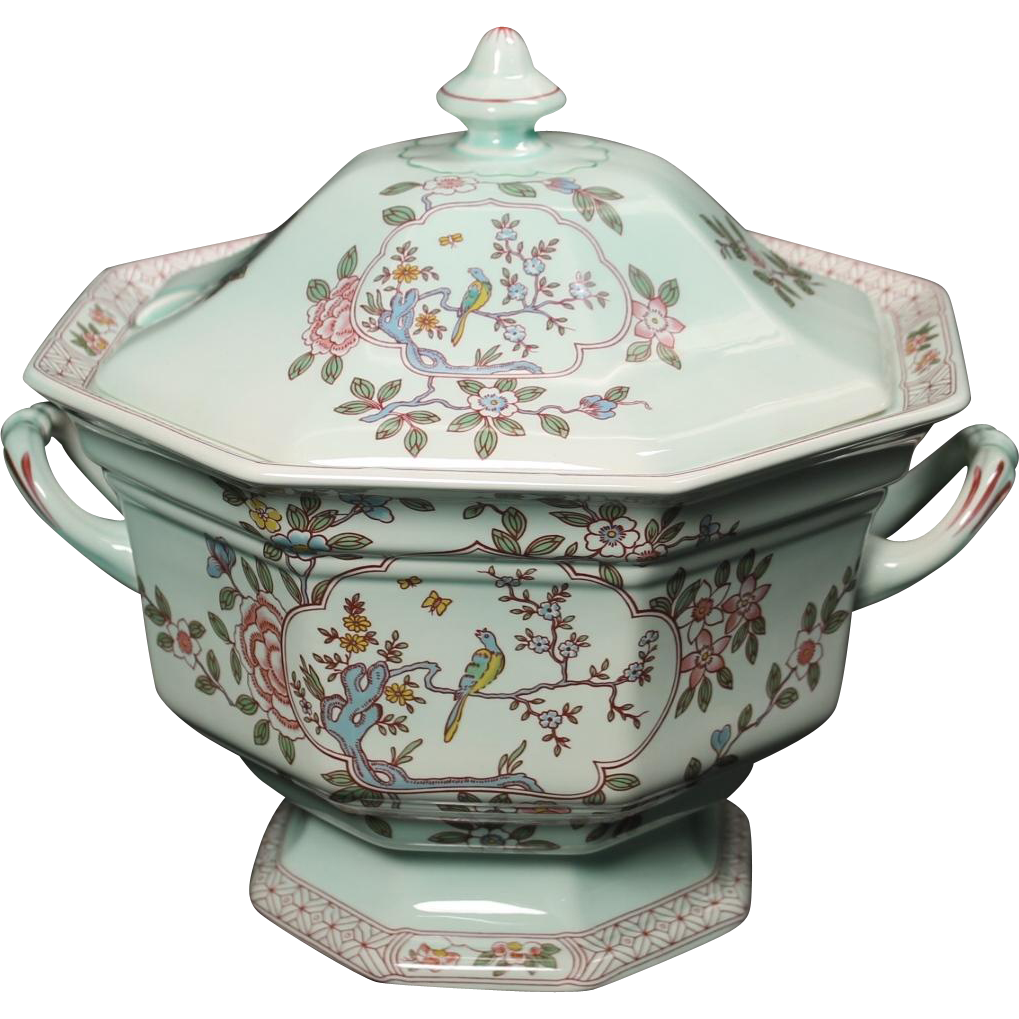 "Wedgwood Adams ""Singapore Bird"" Lidded Soup Tureen"