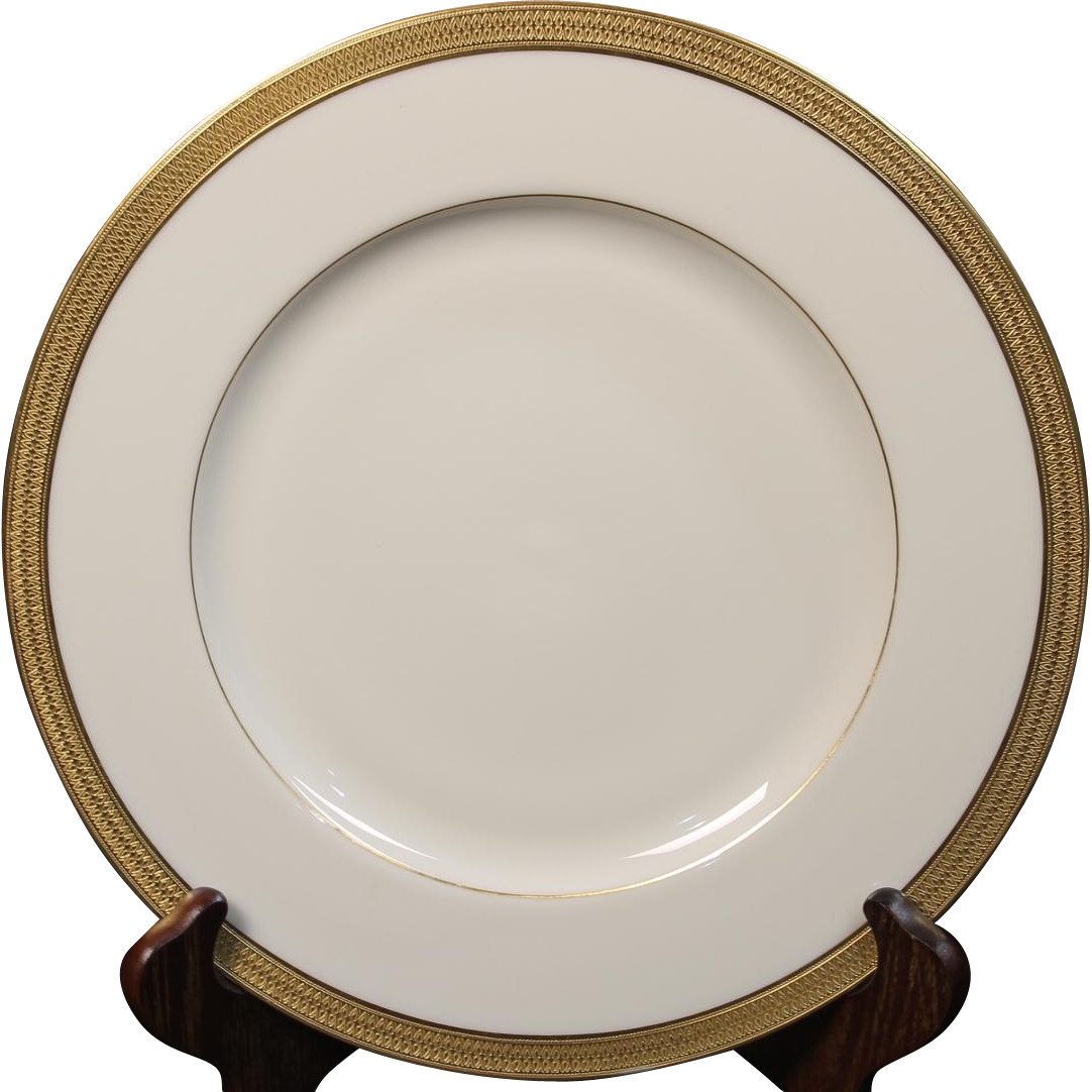 Lenox Dinner Plate in the ''Lowell'' Pattern.  10-5/8""