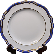 English Spode Bone China Dinner Plate in the ''Chancellor'' Pattern