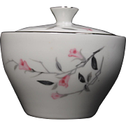 Beautiful Lidded Sugar in the ''Cherry Blossom'' Pattern by Fine China of Japan.