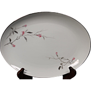 """Fine China of Japan """"Cherry Blossom"""" Oval Serving Platter"""