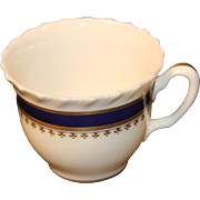 Lenox China Cup in the ''Georgian Blue'' Pattern.  2-1/4''