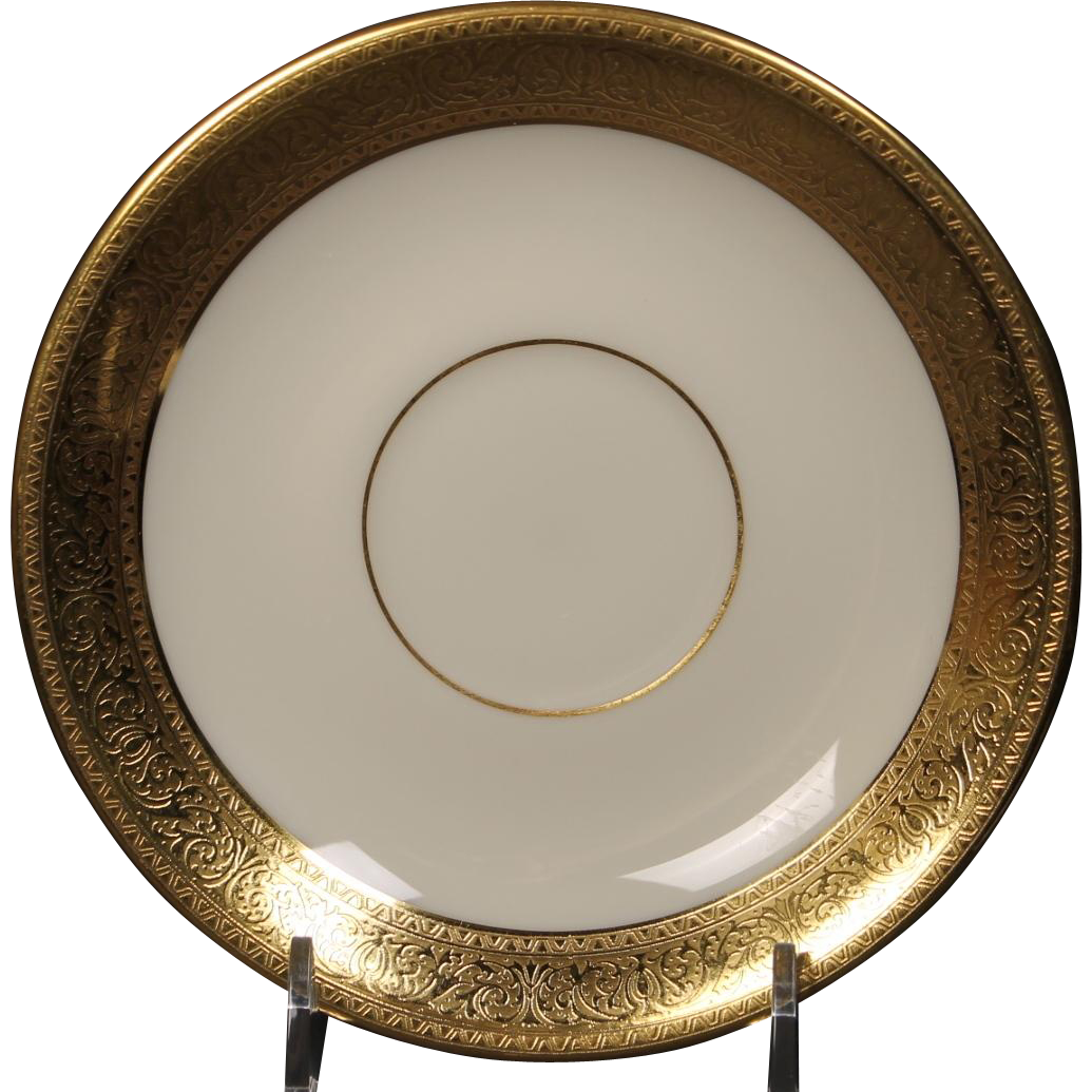 Lenox Saucer in the ''Westchester'' Pattern.  5-3/4''