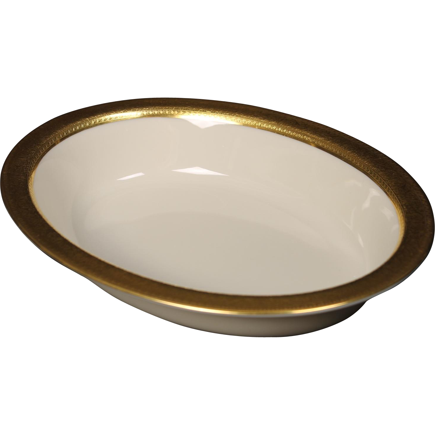 Lenox Oval Vegetable Serving Bowl in the ''Westchester'' Pattern.  9-1/2''