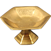 Pickard Gold Encrusted ''Rose and Daisy'' Hexagonal Shaped Compote