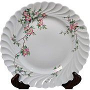 Beautiful French Limoges Haviland China ''Eglantine'' Dinner Plate.
