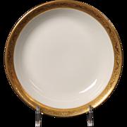 Beautiful Tresseman & Vogt (T&V) Limoges, France Fruit/Dessert Bowl - White with a Richly Encrusted Gold Trim.  5-3/4''