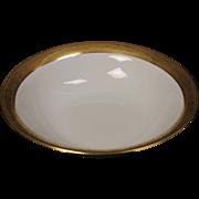 Beautiful Tresseman & Vogt (T&V) Limoges, France Round Vegetable Serving Bowl - White with a Richly Encrusted Gold Trim.  9-1/2'',