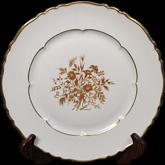 """Haviland Limoges """"Floreal"""" Pattern Dinner Plate.  10-3/8''"""
