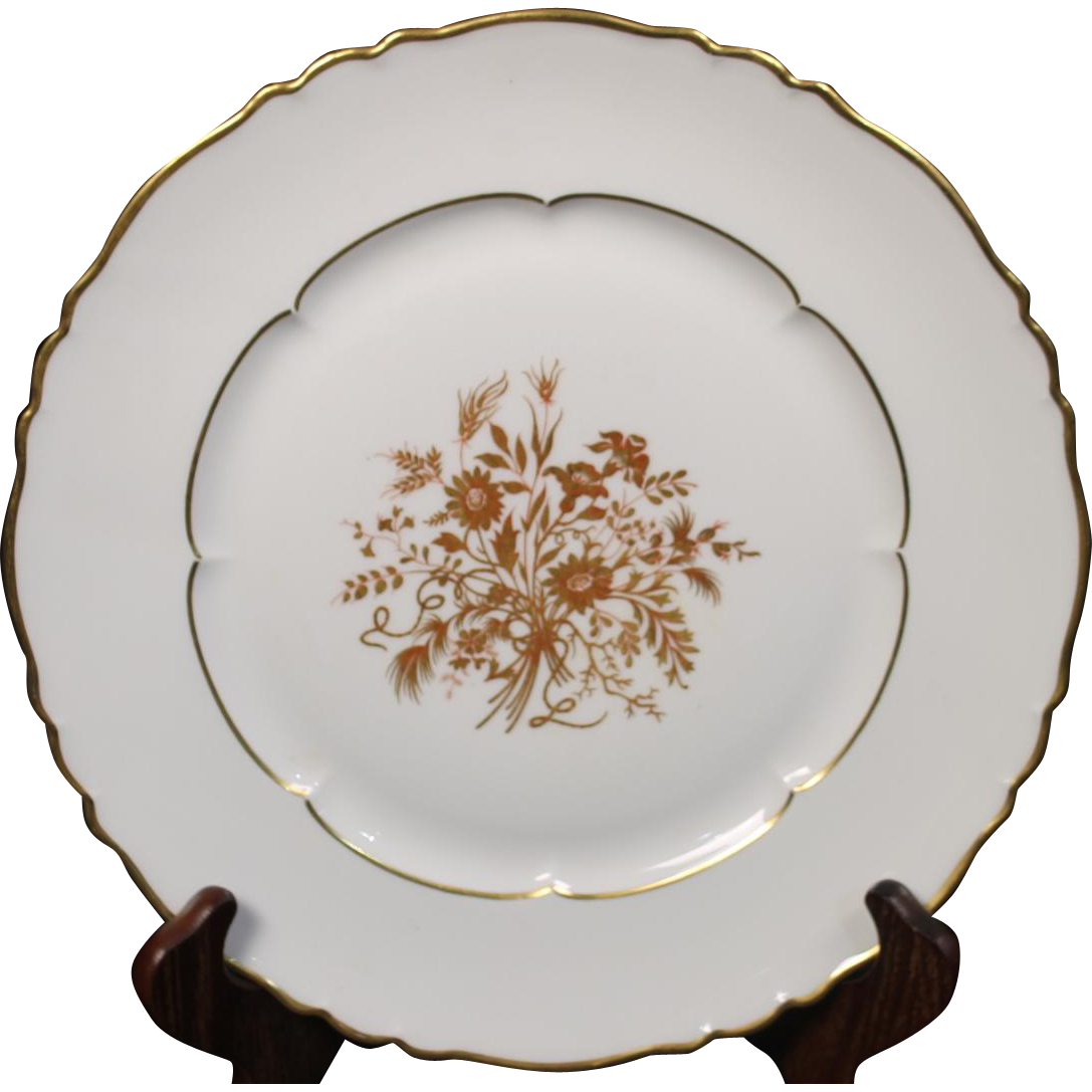 "Haviland Limoges ""Floreal"" Pattern Dinner Plate.  10-3/8''"