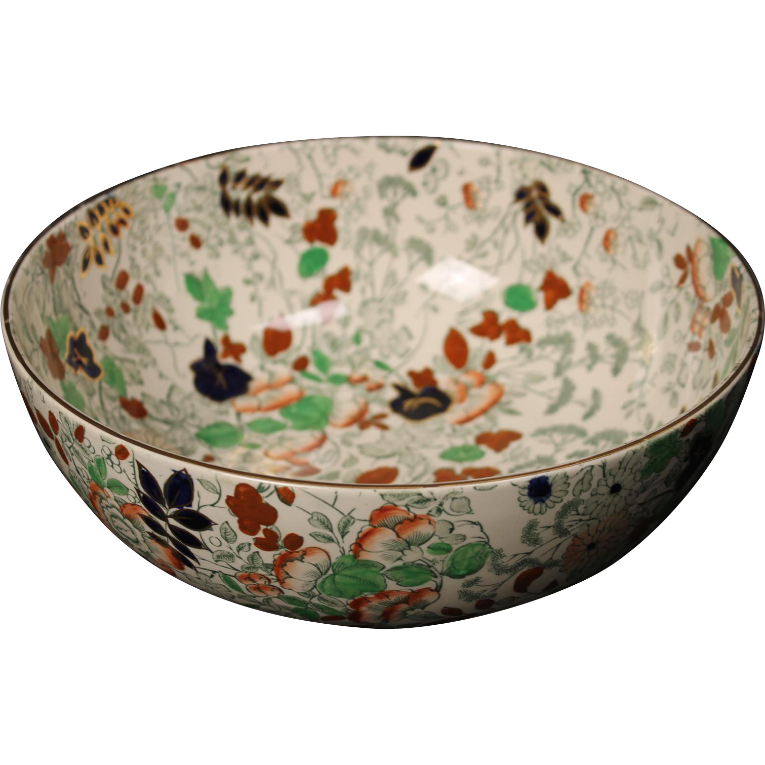 Royal Cauldron ''Bittersweet'' Salad Serving Bowl.  9-3/4''