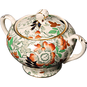 Beautiful Royal Cauldron ''Bittersweet'' Lidded Sugar.