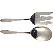 "Alvin Sterling Silver ""Southern Charm"" 2 Piece Salad Set"