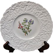Beautiful Royal Cauldon Salad Plate in the ''Speedwell'' Pattern.