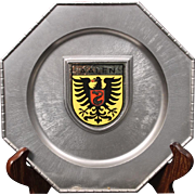 German Coat of Arms (Aalen) Pewter Plate