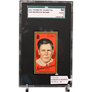 T205 Mordecai Brown-Hall of Famer-SGC grade 50 VG/EX 4