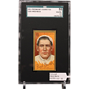 T205 FRED BECK SGC grade 55 VG/EX+ 4.5