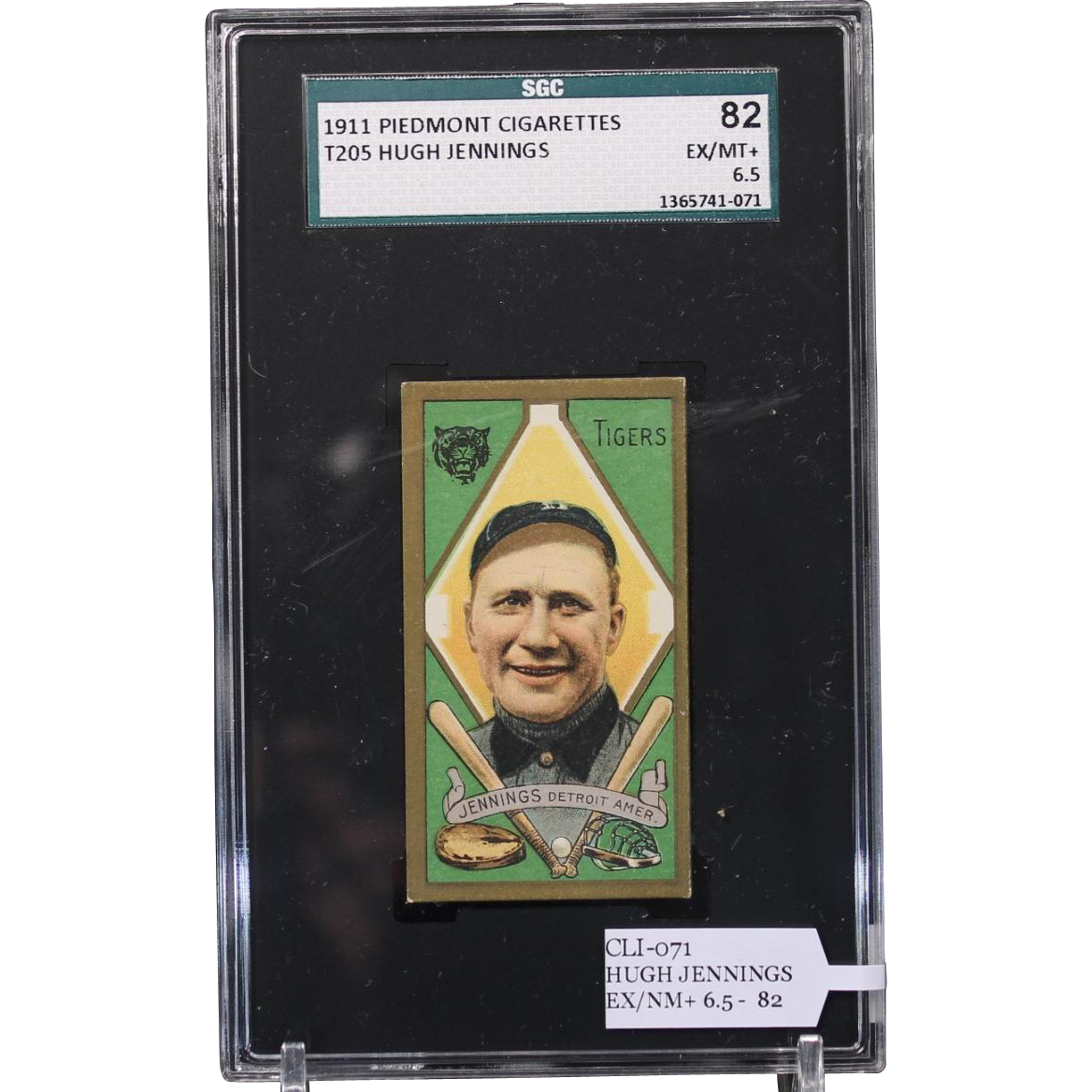 T205 HUGH JENNINGS SGC grade 82 EX/NM+ 6.5