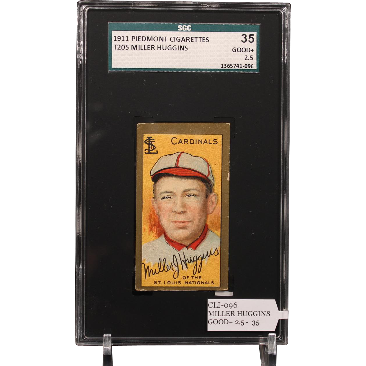 T205 Miller Huggins SGC grade 35 GOOD+ 2.5