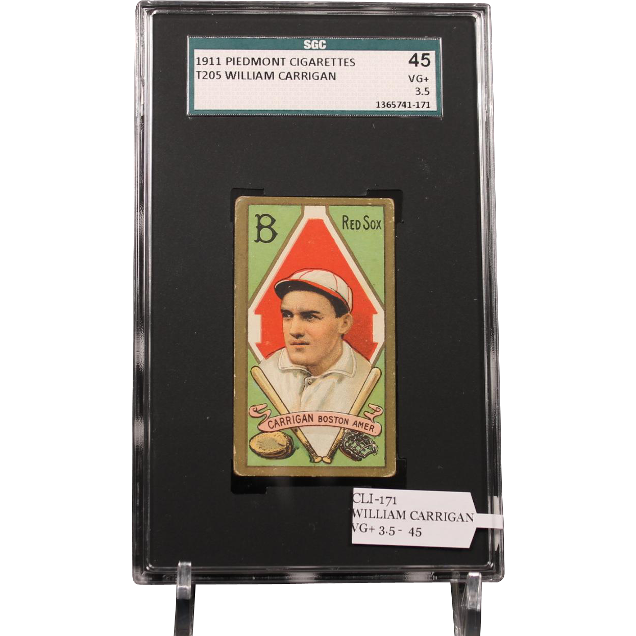 T205 WILLIAM CARRIGAN SGC grade 45 VG+ 3.5