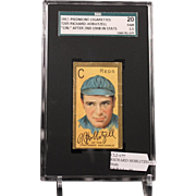 T205 RICHARD HOBLITZELL - 'Cin.'' After 2nd 1908 in Stats SGC grade 20 FAIR 1.5