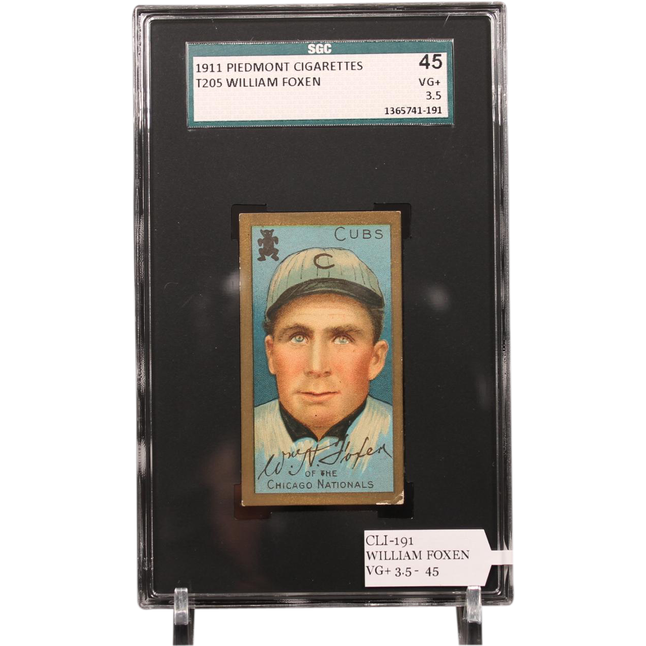 T205 WILLIAM FOXEN SGC grade 45 VG+ 3.5