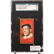 T205 ARLIE LATHAM - A. Latham on Back SGC grade 45 VG+ 3.5