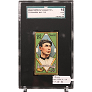 T205 HARRY WOLTER SGC grade 45 VG+ 3.5