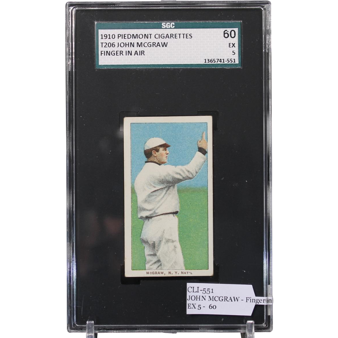 T206 JOHN MCGRAW - Finger in Air SGC grade 60 EX 5
