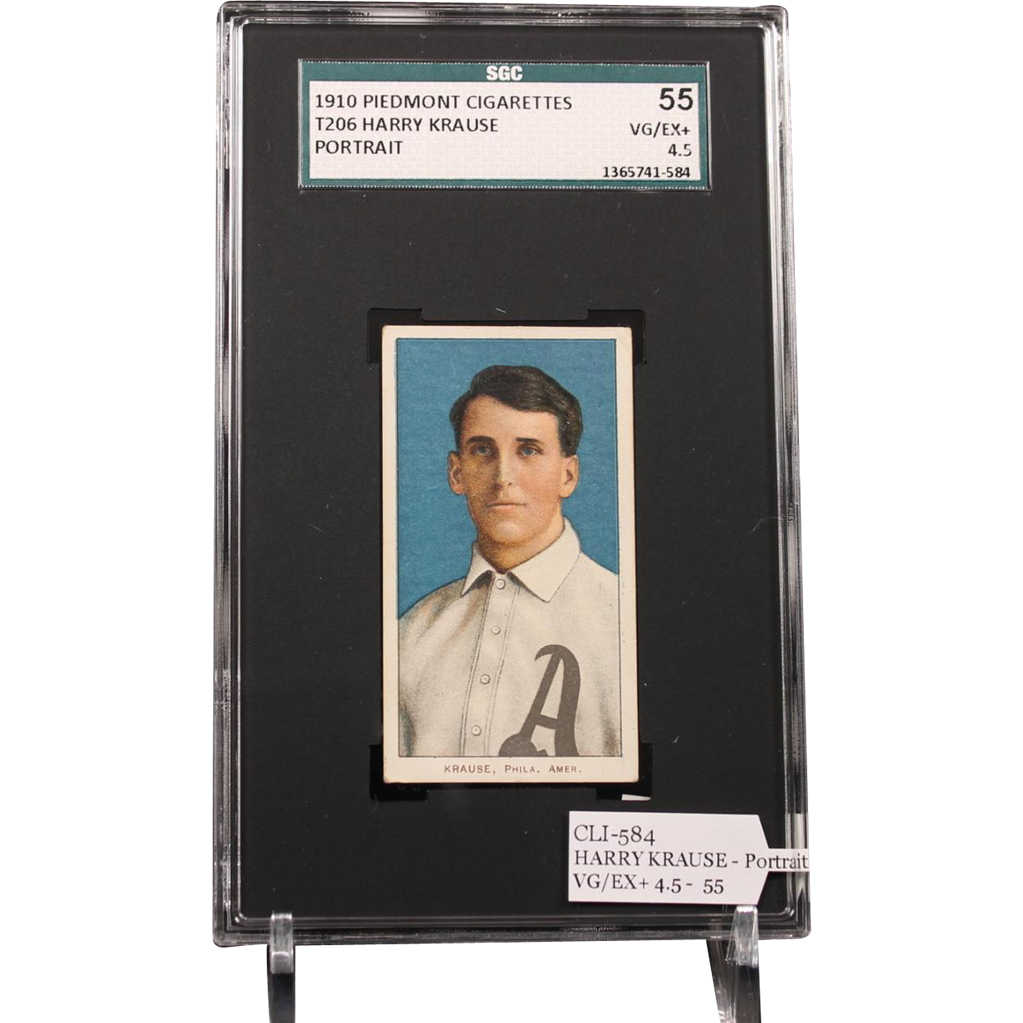 T206 HARRY KRAUSE - Portrait SGC grade 55 VG/EX+ 4.5