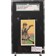 T206 ORVAL OVERALL - Hand Face Level SGC grade 60 EX 5
