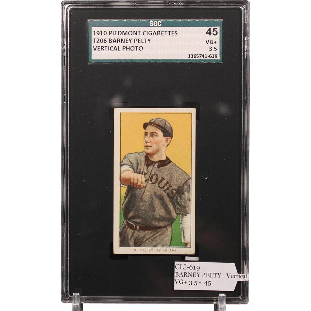 T206 BARNEY PELTY - Vertical Photo SGC grade 45 VG+ 3.5