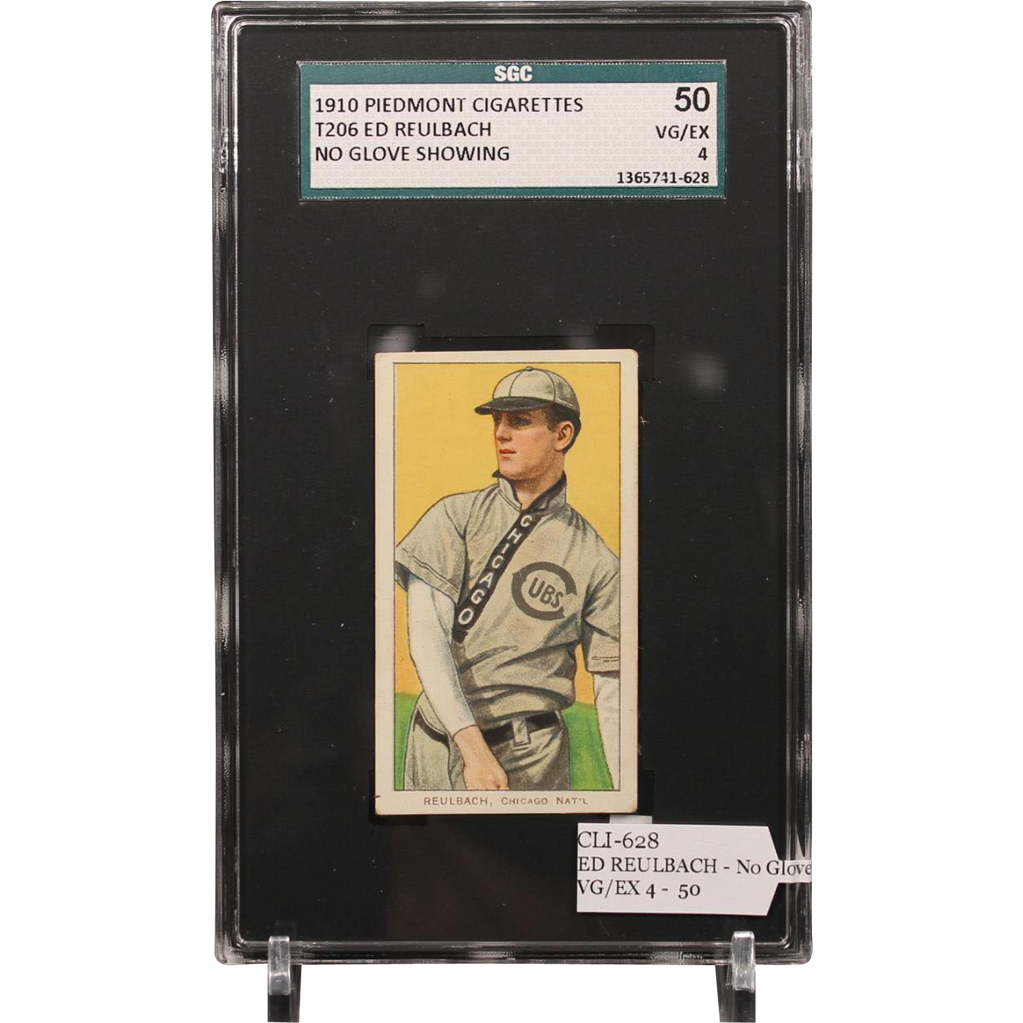 T206 ED REULBACH - No Glove Showing SGC grade 50 VG/EX 4