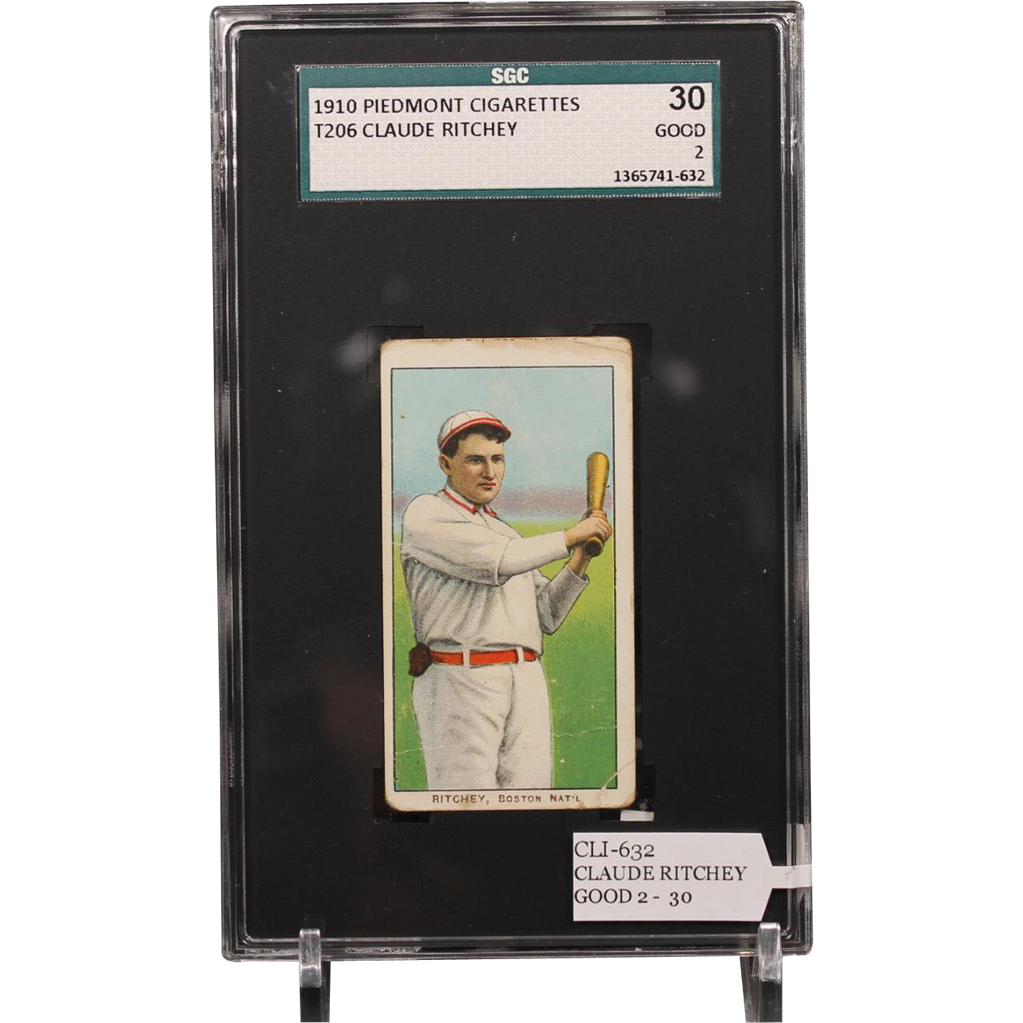 T206 CLAUDE RITCHEY card professionally graded by SGC.