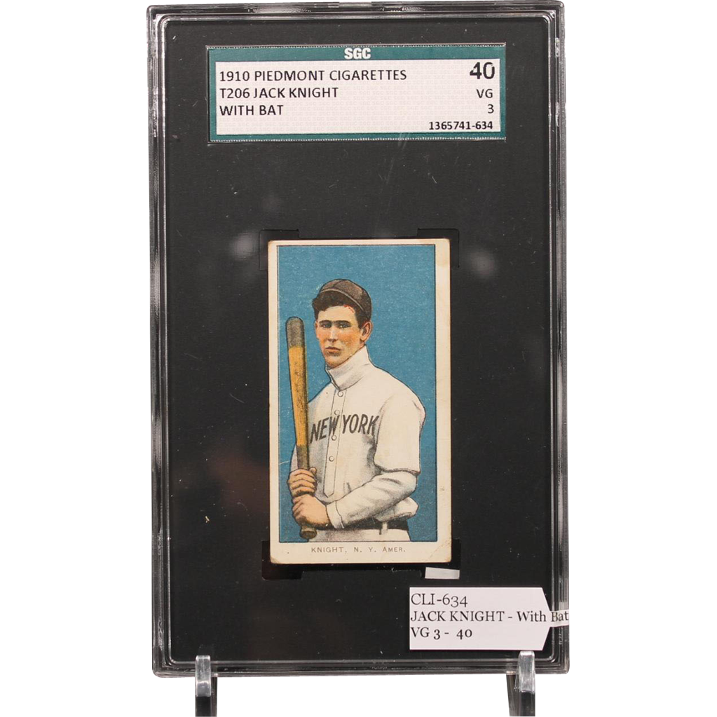 T206 JACK KNIGHT - With Bat SGC grade 40 VG 3