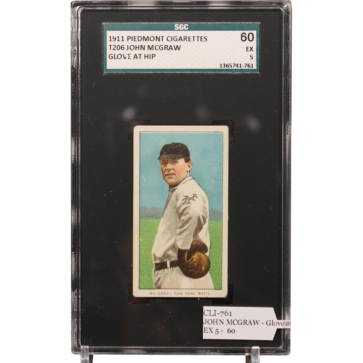 T206 JOHN MCGRAW - Glove at Hip SGC grade 60 EX 5