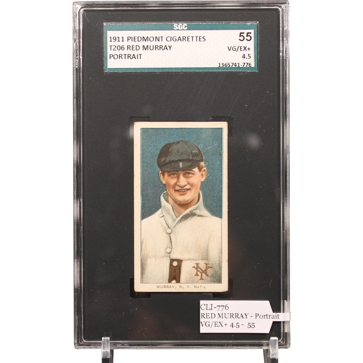 T206 RED MURRAY - Portrait SGC grade 55 VG/EX+ 4.5