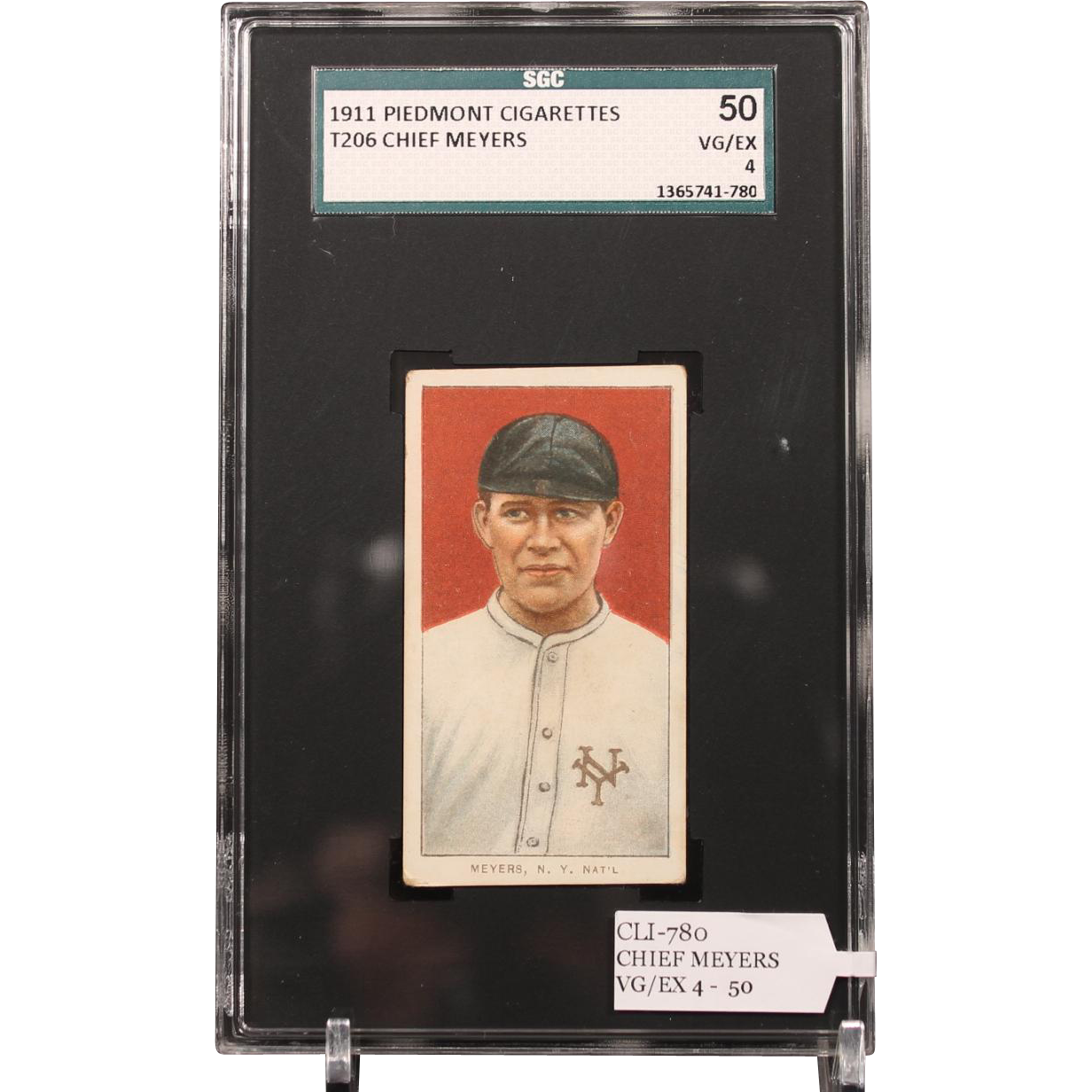 T206 CHIEF MEYERS SGC grade 50 VG/EX 4